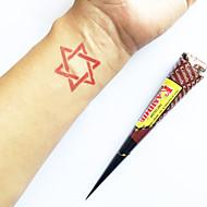 ハロウィーン天然ハーブカシミールヘナコーン一時的なタトゥーキット一時的な刺青カヴェリ(赤)