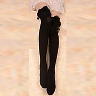 Black Lace Trim cotone Gothic Lolita Negli Knee Socks