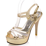 Women's Shoes Stiletto Heel Heels/Platform/Sling back/Open Toe Sandals Party & Evening/Dress Purple/Silver/Gold