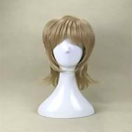 capless manier blonde korte rechte stuk en cosplay party pruik top kwaliteit synthetisch haar pruiken