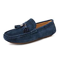 Serene Men's Shoes Office & Career / Casual Suede Boat Shoes Black / Blue / Beige
