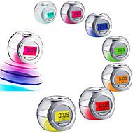 LED cor alterando luz nave alarme sonoro temperatura relógio calendário soneca
