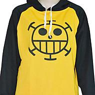 Inspired by One Piece Trafalgar Law Anime Cosplay Costumes Cosplay Hoodies Print Yellow Long Sleeve Coat