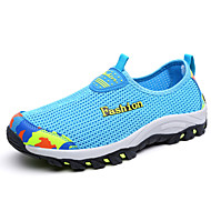 Unissex Mocassins e Slip-Ons Solados com Luzes par sapatos Tule Verão Outono Casual Preto Azul Escuro Roxo Rosa claro Azul Real2,5 a 4,5