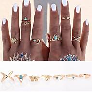 Pierścionki Codzienny / Casual Biżuteria Stop Damskie Duże pierścionki / Zestaw 7pcs,Regulacja / Jeden rozmiar Złoty