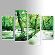 Paisagem Impressão em tela 4 Painéis Pronto para pendurar,Vertical