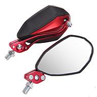 1 paar spiegel 10mm 8mm voor universele motorfiets motor zwart + rood