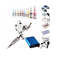 Beggineer Tattoo Kit KL101 1 Machine With Power Supply Grips 5ML Ink