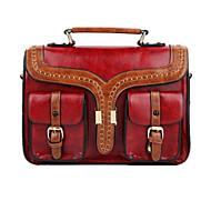 GG British Fashion Retro Portable Shoulder PU Bag 3D Three-dimensional Satchel Cross Body Bag Tote