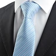 Gravata(Azul / Branco,Tricô)Listrado