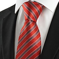 New Black Striped Red JACQUARD Mens Tie Necktie Wedding Party Holiday Gift #1046