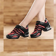 Sapatos de Dança(Preto / Vermelho / Branco) -Feminino-Não Personalizável-Tênis de Dança