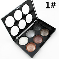 Alpha 6 Colors Natural Glitter Silky Shimmer Naked Eye Shadow Smoky Nude Eyeshadow Palette&Brush in(2 Color Choose)