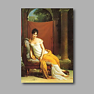 "Stretched (Ready to Hang) Hand-Painted Museum Quality 36""x24"" Oil Painting on Canvas Classical Figure Girls"