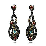 Earring Drop Earrings Jewelry Women Sterling Silver / Cubic Zirconia / Gold Plated 2pcs White