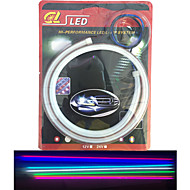 2pcs tubo emissores de luz LED Destaque macio auto lâmpada sobrancelha levou lâmpada acende artigo 60 cm