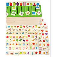 צעצועים לגיל הרך לילדים ללמוד את סיווג צורת צעצועי עץ לילדים התאמת פאזל עץ תיבת