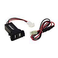 bil 2.1a Dual USB Port socket mobiltelefon opladeren + lydindgang til suzuki