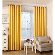 Deux Panneaux Le traitement de fenêtre Rustique / Européen , Solide Salle de séjour Coton Matériel Rideaux occultants rideauxDécoration