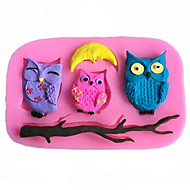 DIY Animal Owl Fondant Cake Chocolate Silicone Mold, Decoration Tools Bakeware SM-452