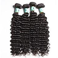 "4Pcs /Lot 8""-26"" 5A Malaysian Virgin Hair Deep Wave Human Hair Extensions 100% Unprocessed Malaysiann Remy Hair Weaves"