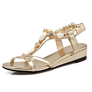 Women's Shoes Wedge Heel Wedges / Ankle Strap Sandals Party & Evening / Dress / Casual Blue / Pink / Gold