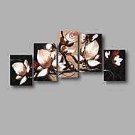 """Stretched (ready to hang) Hand-painted Oil Painting 60""""x40"""" Canvas Wall Art Modern Flowers Black White"""
