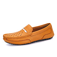 Men's Shoes Leather Casual Loafers Casual Flat Heel Slip-on Blue / Yellow