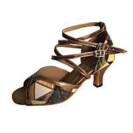 Customizable Women's Dance Shoes Leatherette Leatherette Latin Sandals Stiletto HeelPractice / Beginner / Professional / Indoor /