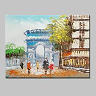 mini formato dipinto a mano trionfale pittura a olio moderna arco paesaggio su tela un pannello pronto ad appendere 20x25cm