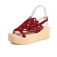Women's Shoes Wedges / Heels / Peep Toe / Platform Sandals / Heels Outdoor / Dress / Casual Black / Red / Beige/F13-7