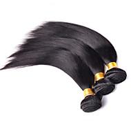 טווה שיער אדם שיער ברזיאלי ישר 3 חלקים שוזרת שיער