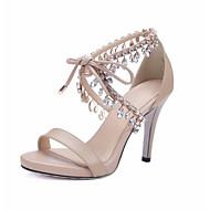 Women's Summer Heels Leather Wedding / Dress / Party & Evening Stiletto Heel Almond