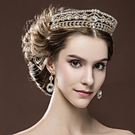 Women's Rhinestone Wedding Bridal Tiaras Earnings Set Party Headpiece HG2327