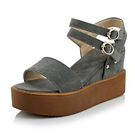 Women's Shoes Platform Wedges/Sling back/Open Toe Sandals Dress/Casual Black/Gray/Beige