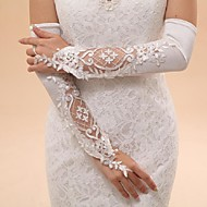 Opera Length Fingerless Glove Tulle Bridal Gloves Party/ Evening Gloves Spring Summer Fall Winter Embroidery lace