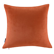 Leather/suede Pillow With Insert,Solid Modern/Contemporary