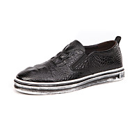 Men's Shoes Office & Career / Casual Leather Boat Shoes Black