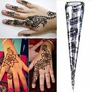 černá * bylinné henna kužely dočasné tetování kit body art Mehandi inkoust Hina