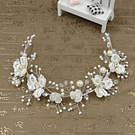Mulheres Menina das Flores Imitação de Pérola Plástico Capacete-Casamento Ocasião Especial Casual Ao ar Livre Bandanas 1 Peça