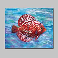 Pintados à mão Abstrato / Animal / Paisagens Abstratas / PopModerno 1 Painel Tela Pintura a Óleo For Decoração para casa
