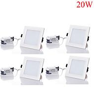 20W Downlight de LED 40pcs SMD 5730 1800-2000 lm Branco Quente / Branco Frio / Branco Natural Regulável / Decorativa AC 85-265 V 4 pçs