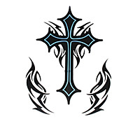 1Pcs  Waterproof  Large Cross Posted Back  Pattern  Tattoo Sticker For Body Art