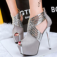 Women's Shoes Hollow Out Flange Cub Sexy Hin Thin Stiletto Heel Heels / Peep Toe Heels Party & Evening / Dress
