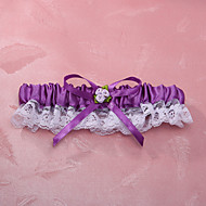 Garter Lace / Polyester Flower / Lace Purple