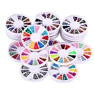 20 caixas / set brilho acrílico DIY NAIL 3d strass arte&decoração unhas arte strass decorações projeto da etiqueta