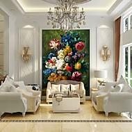Květinový stromy a listí Tapety pro domácnost klasické Wall Krycí , Vinyl Materiál lepidlo požadováno Nástěnná malba , pokoj tapeta