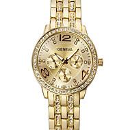Women'S Watch,Inlaid crystal,Strip,Geneva,Quartz watch,Men's watches,Female watches,Gold watches,Gift idea Cool Watches Unique Watches