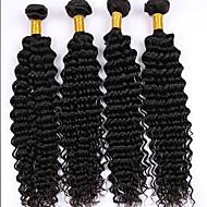 Człowieka splotów włosów Włosy brazylijskie Falowana 4 elementy sploty włosów