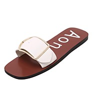 Women's Shoes Low Heel Slippers Sandals Outdoor / Dress / Casual Black / White